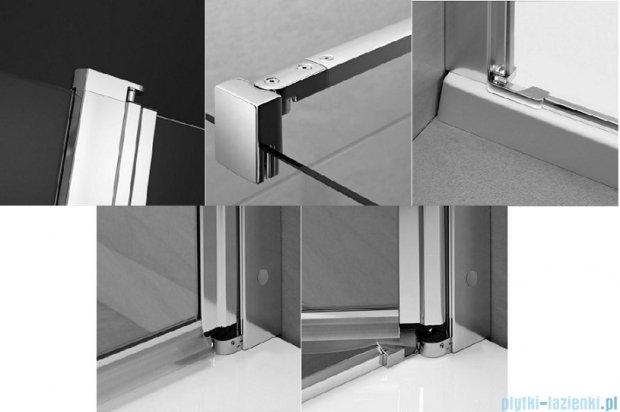 Radaway Eos II DWJ Drzwi prysznicowe 80x195 prawe szkło przejrzyste + brodzik Delos C + syfon 3799440-01R/SDC0808-01