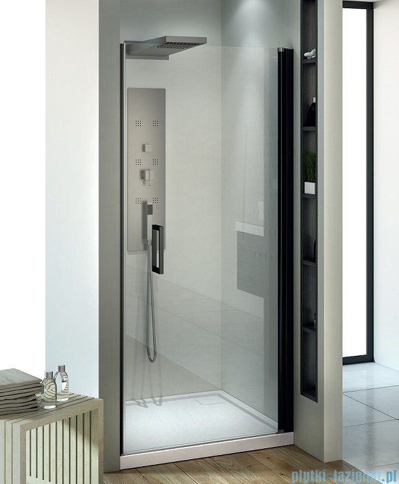 New Trendy Negra drzwi prysznicowe 80cm przejrzyste EXK-1193