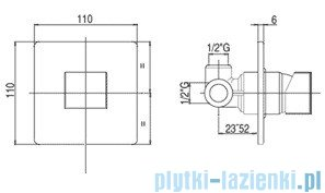 Paffoni Bateria podtynkowa Level Cubo LEC010