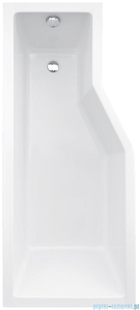 Besco Integra 170x75cm Wanna asymetryczna Lewa + parawan 3-skrzydłowy #WAI-170-PL3