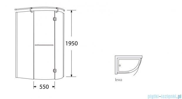 Sea Horse Sigma kabina Klio lewa 120x85cm brązowe BK261BL+brodzik prysznicowy BKB261L