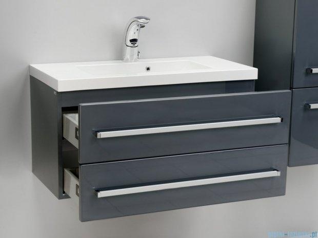 Antado Variete szafka z umywalką, wisząca z dwiema szufladami 80x39x40 szary połysk FM-C-442/8/2-K917 + UMMC-800x390