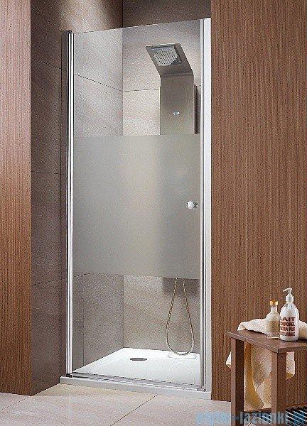 Radaway Eos DWJ Drzwi wnękowe 90 szkło intimato + brodzik Delos C + syfon 37903-01-12N