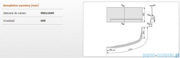 Sanplast Free Line obudowa do wanny lewa 90x160cm biała 620-040-1130-01-000