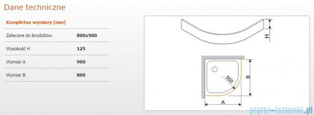 Sanplast Obudowa do brodzika OBP 80x90x12,5 cm 625-401-0720-01-000