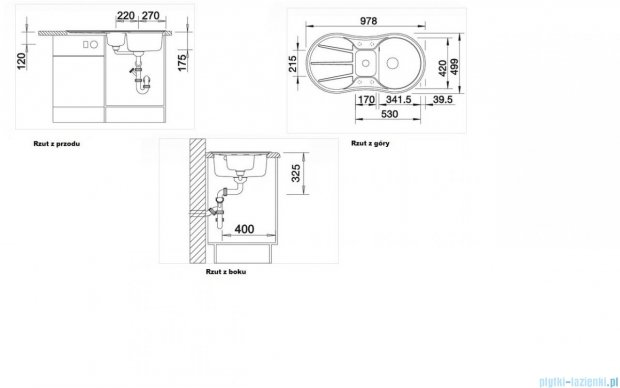Blanco Cron 6 S zlewozmywak Silgranit PuraDur  kolor: tartufo  z k. aut. z odsączarką tworzywo szt. 517316
