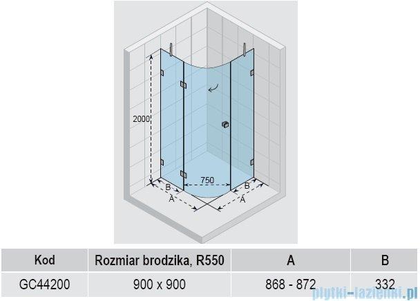 Riho Scandic S308 kabina prysznicowa 90x90x200 cm GC44200