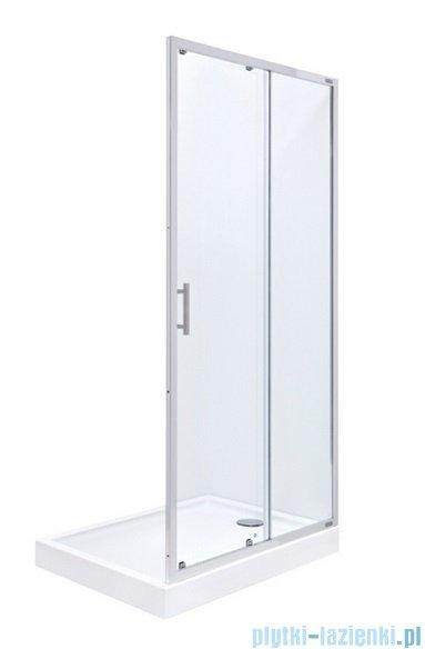 Roca Town Drzwi do wnęki prysznicowej 2częściowe 140 140x195,5cm szkło przezroczyste AMP181401M