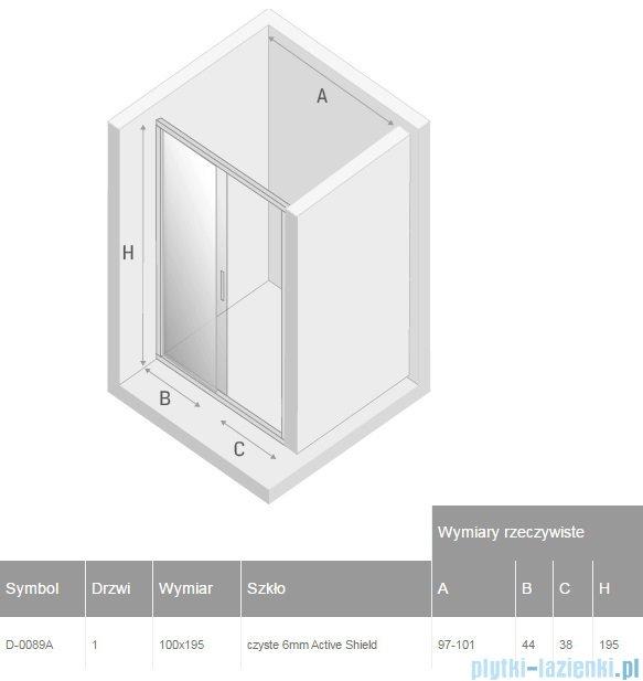 New Trendy New Corrina drzwi prysznicowe 100cm przejrzyste D-0089A