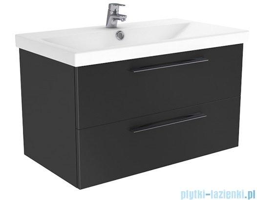 New Trendy Notti szafka umywalkowa 80 + umywalka antracyt połysk ML-EL180