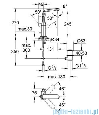 Grohe Veris bateria umywalkowa DN 15 chrom 32184000