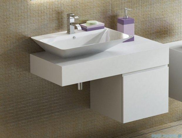 Antado Combi szafka z blatem lewym i umywalką Libra biały/ciemne drewno ALT-140/45GT-WS/dp+ALT-B/3-1000x450x150-WS+UCS-TC-66