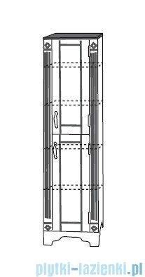 Antado Ritorno słupek stojący prawy 39x37x154 biały/grafit VR-275-14/B02R