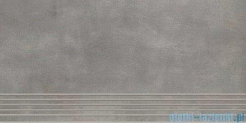 Paradyż Tecniq silver mat stopnica 29,8x59,8