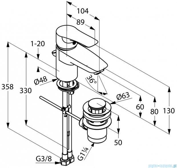 Kludi Tercio Jednouchwytowa bateria umywalkowa DN 10 chrom 384810575