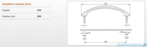 Sanplast ABS 23 uchwyt do wanien dł. 23cm chrom 661-A0005