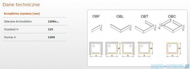Sanplast Obudowa frontowa do brodzika OBF 120x12,5 cm 625-401-0350-01-000