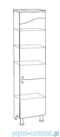 Antado Meva słupek wysoki prawy 34x34x185 biały połysk BWM-185R-WS