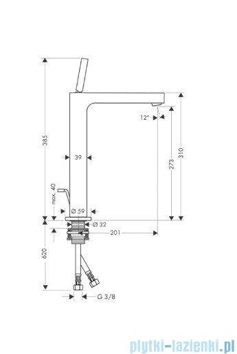 Hansgrohe Axor Citterio Jednouchwytowa bateria umywalkowa do misek umywalkowych 39020000