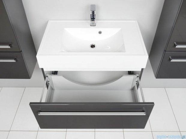 Antado Spektra szafka z umywalką, wisząca 80x50x33 szary połysk wolfram grey FDF-442/8GT-56 + UNA-800