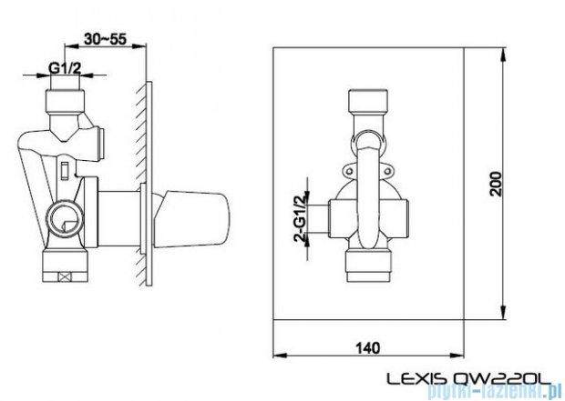 Kohlman Lexis Podtynkowa bateria prysznicowa QW220L