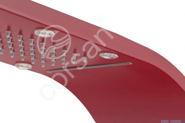 Corsan Royal Panel natryskowy z mieszaczem rubinowy A-013SRUBINOWY