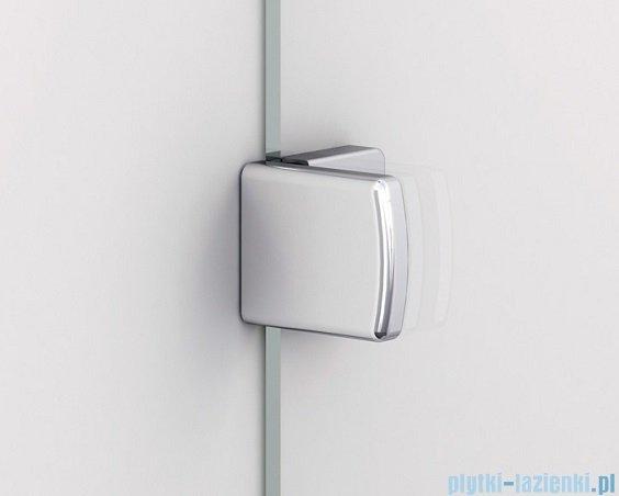 Sanswiss Melia ME13 Drzwi ze ścianką w linii z uchwytami lewe do 160cm cieniowane czarne ME13WGSM21055