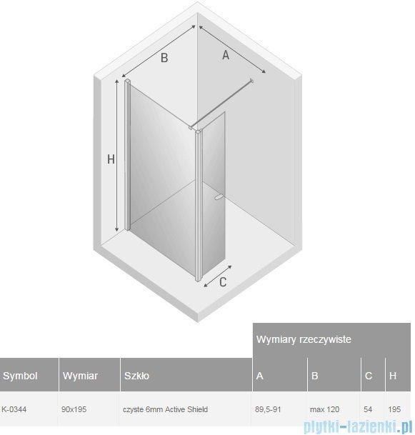 New Trendy New Soleo kabina Walk in 90x195 cm przejrzyste K-0344