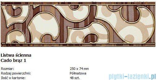 Domino L-Cado brąz 1 25x7,4