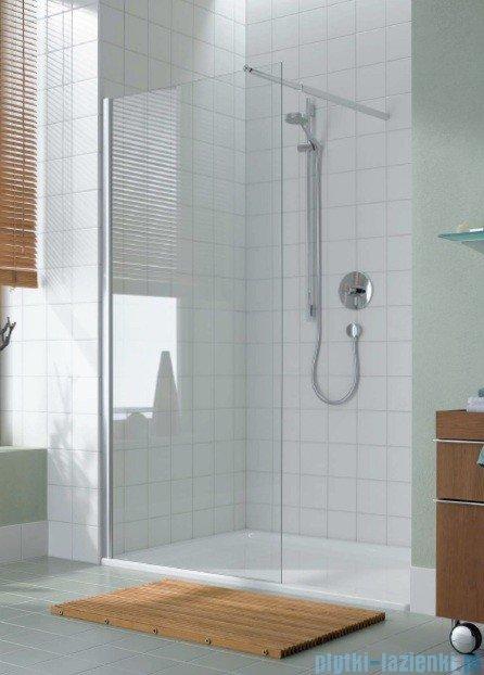 Kermi Atea Ściana boczna wolno stojąca, szkło przezroczyste, profile białe 120cm ATTWF120182AK