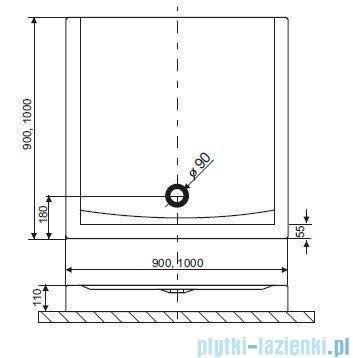 Brodzik kwadratowy Excellent Forma kompaktowy 100x100 biały BREX.FOR10WHC