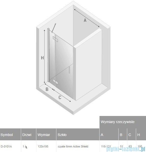 New Trendy New Renoma drzwi wnękowe 120x195 cm przejrzyste lewa D-0101A