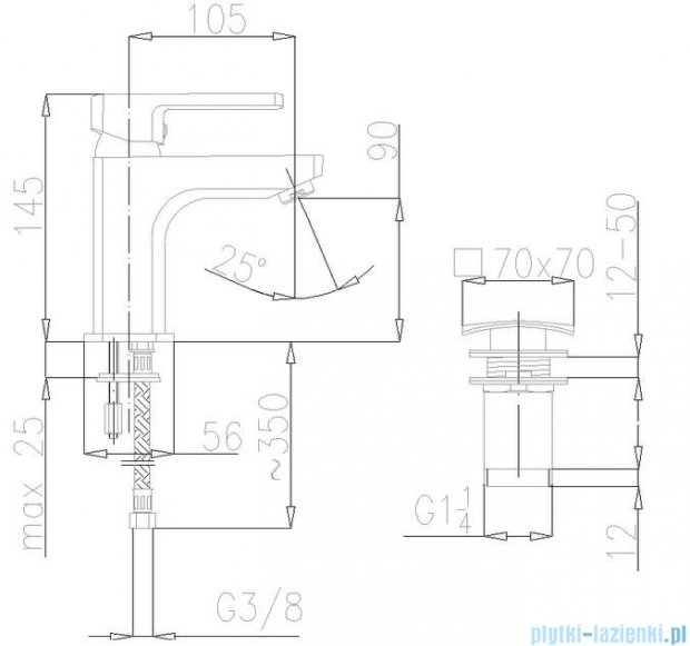 KFA Korund bateria umywalkowa, kolor chrom 4002-811-00