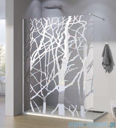 SanSwiss Walk-in Pur PDT4P Kabina 100x200cm szkło dekor drzewo PDT4P1001062
