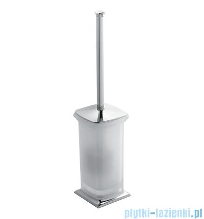 Omnires Portofino szczotka do Wc stojąca szklana chrom+szkło B3206