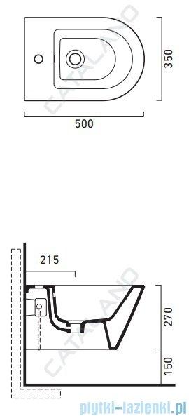 Catalano Zero bidet 50 bidet wiszący 50x35cm biały 1BSV50N00