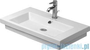 Duravit 2nd floor umywalka z przelewem z trzema otworami na baterię 700x460 mm 049170 00 30