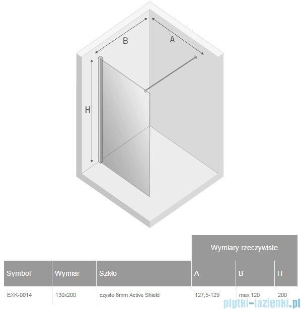 New Trendy New Modus kabina Walk-In 130x200 cm przejrzyste EXK-0014