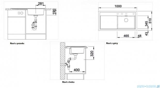 Blanco Zenar XL 6 S  Zlewozmywak Silgranit PuraDur komora lewa kolor: antracyt z kor. aut. i szklaną deską do krojenia 519281