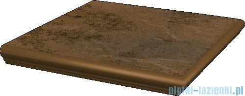 Paradyż Semir beige klinkier stopnica narożna z kapinosem 33x33