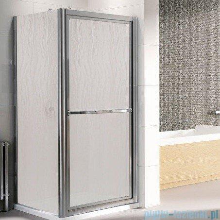 Novellini Drzwi prysznicowe obrotowe do wewnątrz LUNES O 78 cm szkło przejrzyste profil srebrny LUNESO78-1B
