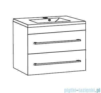 Antado Spektra ceramic szafka podumywalkowa 2 szuflady 62x43x50 szary połysk wolfram grey FDF-AT-442/65/2GT-56