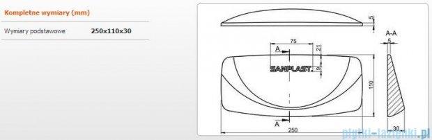 Sanplast zagłówek żelowy 25x11cm czarny 661-A0029-43
