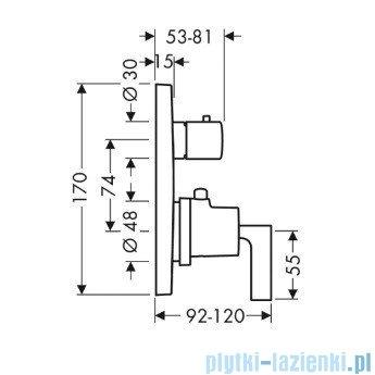 Hansgrohe Axor Citterio Bateria termostatyczna podtynkowa chrom 39720000