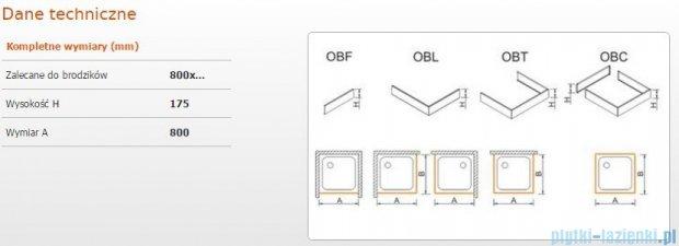 Sanplast Obudowa frontowa do brodzika OBF 80x17,5 cm 625-403-0300-01-000