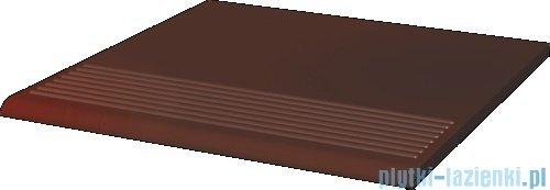 Paradyż Cloud brown klinkier stopnica prosta 30x30