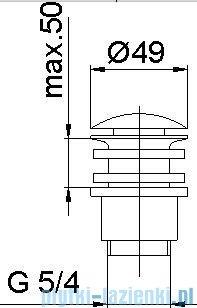 KFA Spust klik-klak metalowy (duży) chrom 660-254-00-BL