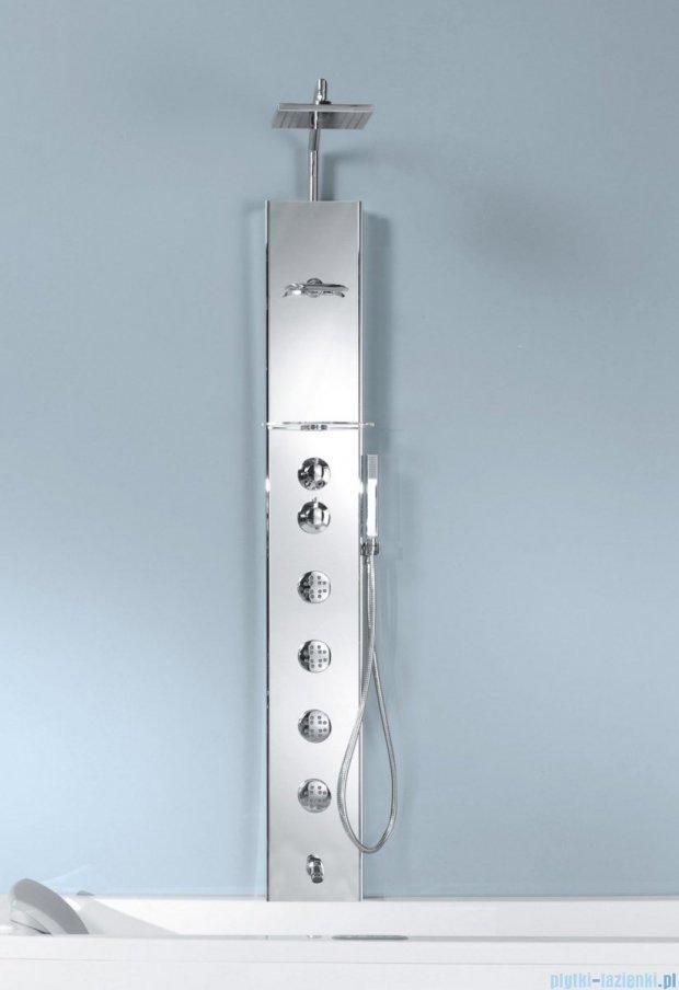 Novellini Aqua 1 Cascata 2 panel prysznicowy biały bateria termostatyczna CASC2VT-A