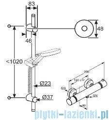 Kludi A-QAv Zestaw natryskowy z baterią termostatyczną 6209705-00