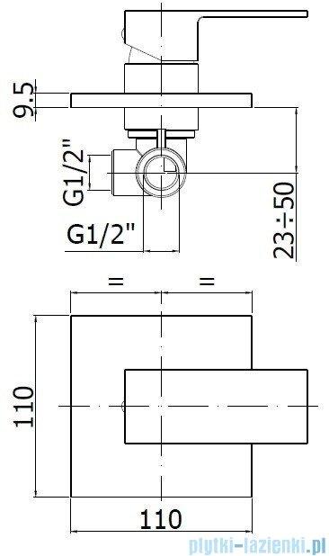 Paffoni  Bateria natryskowa podtynkowa Effe chrom EF010